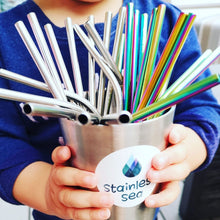 Load image into Gallery viewer, Stainless Steel Straw set for KIDS