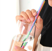 Load image into Gallery viewer, Stainless Steel Adjustable Straw - Rainbow