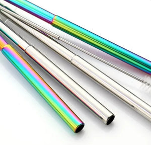 Stainless Steel Adjustable Straw - Rainbow