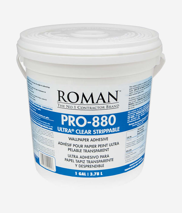 Roman PRO-880 Ultra Clear Strippable Wallpaper Adhesive 3.78L