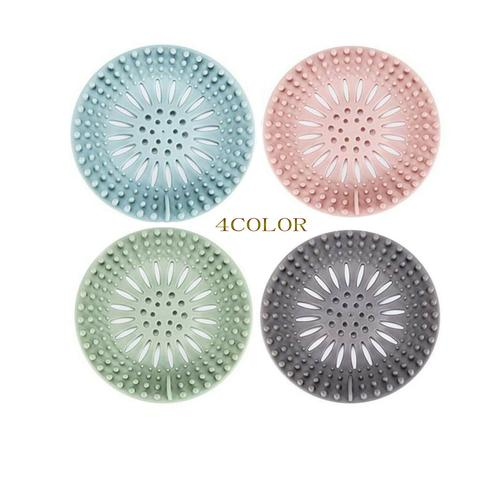 Hair Catcher Durable Silicone Hair Stopper Shower Drain Covers Easy to Install and Clean Suit for Bathroom Bathtub and Kitchen 4 Pack