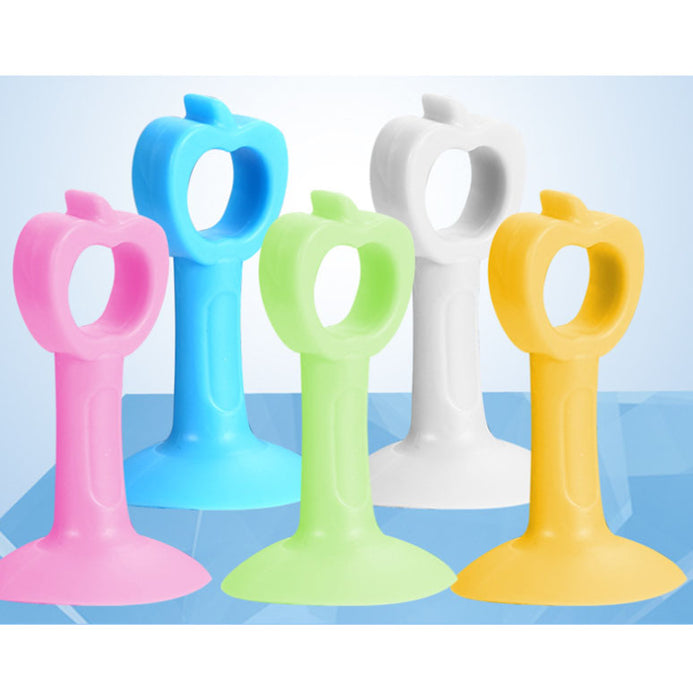 5 pcs Silicone Mute Suction Buffer Door Handle Knob Anti-Collision and Perforation Free Sucking Rubber Doorknob Bumper