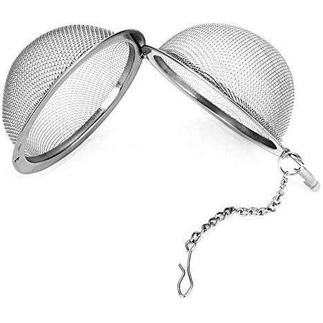 3 Pack Piece Set Stainless Steel Mesh Tea Ball Tea Infuser Strainers Tea Strainer Filters Tea Interval Diffuser for Tea (3 Pack same Sizes)