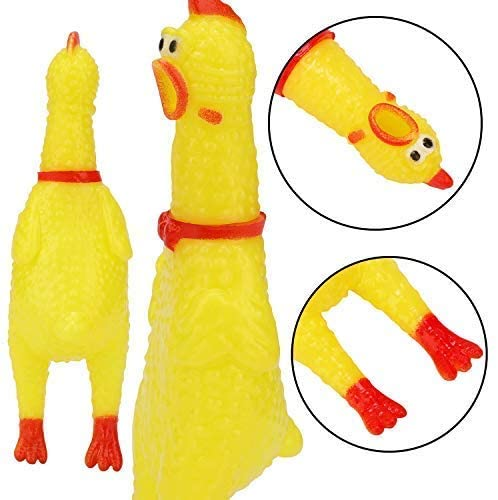 LEGEND SANDY 10 PCS Screaming Chicken, Rubber Chicken Noisemakers for Kids and Pets,  for Gag Gift Party Favors