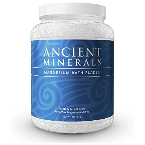 Ancient Minerals Magnesium Bath Flakes of Pure Genuine Zechstein Chloride - Resealable Magnesium Supplement Bag (4.4 lb)