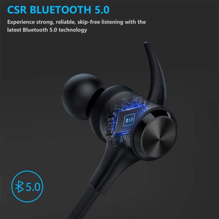 Wireless Headphones, Boltune Bluetooth 5.0 IPX7 Waterproof 16 Hours Playtime Bluetooth Headphones,Sports Earbuds for Running