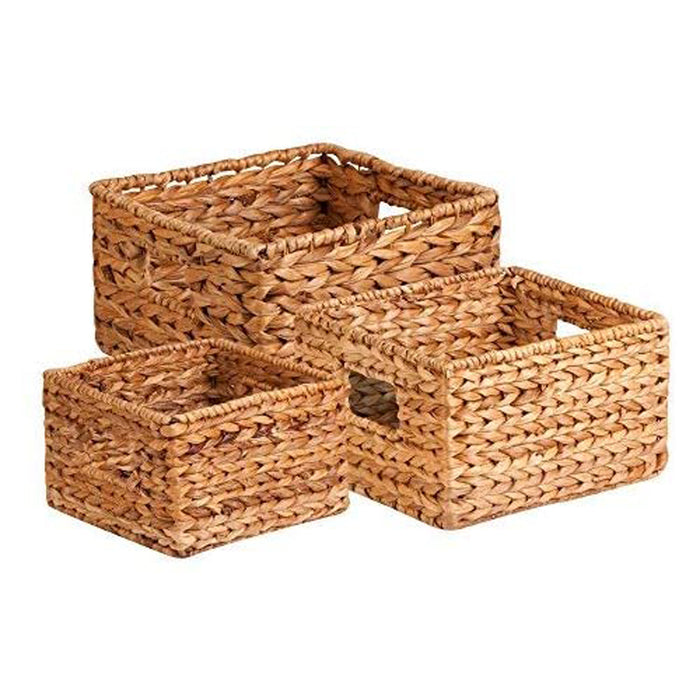 Honey-Can-Do STO-02882 Nesting Banana Leaf Baskets, Multisize, 3-Pack,Natural