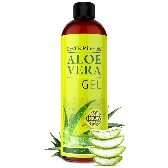 Organic Aloe Vera Gel with 100% Pure Aloe From Freshly Cut Aloe Plant,Absorbs Rapidly With No Sticky Residue - Big 12 oz
