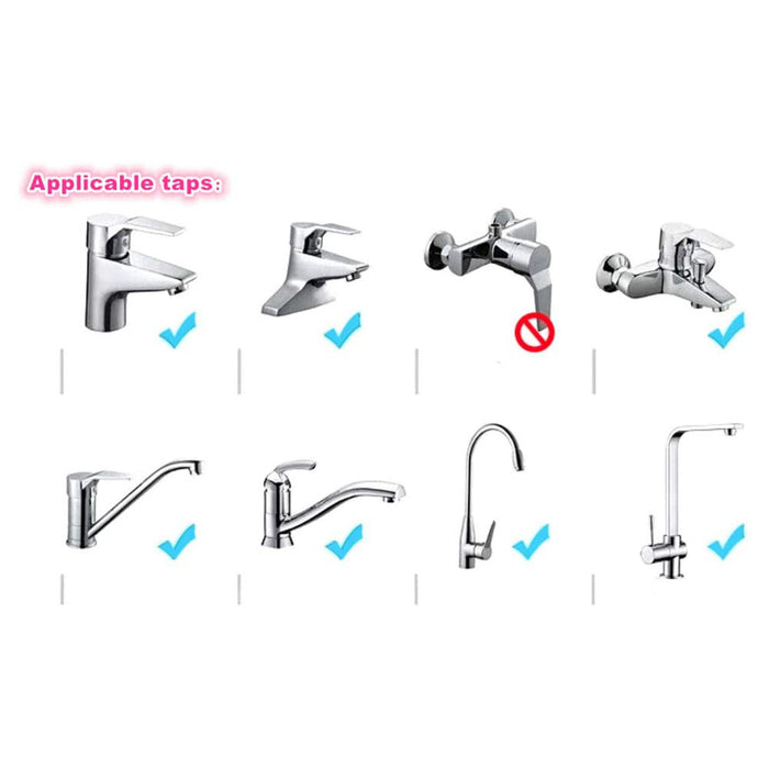 Movable Kitchen Tap Head, 360° Rotatable ABS Faucet Spray Head Tap, Splash Filter Nozzle, 3 Modes Adjustment