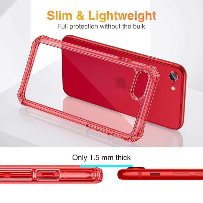 ESR Air Armor Designed for iPhone SE 2020 Case/iPhone 8 Case [Shock-Absorbing] [Scratch-Resistant] [Military Grade Protection]  for iPhone SE 2020/8, Red
