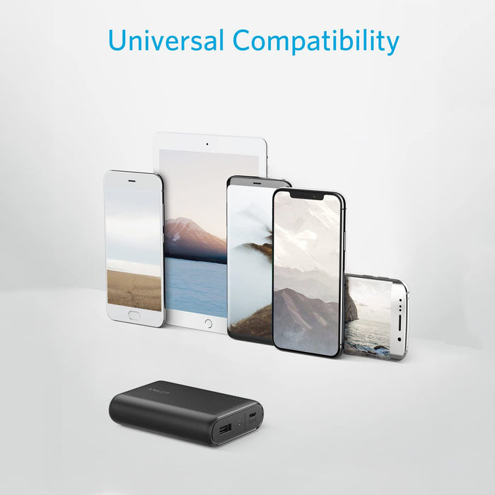 Anker PowerCore 10000 Portable Charger, One of The  Lightest 10000mAh Power Ban  High-Speed Charging Technology Phone Charger
