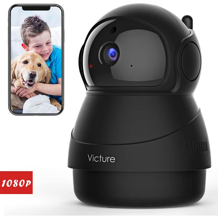 Victure 1080P FHD Pet Camera with WiFi IP Security Camera Indoor Motion Detection Night Vision Home Surveillance iOS/Android