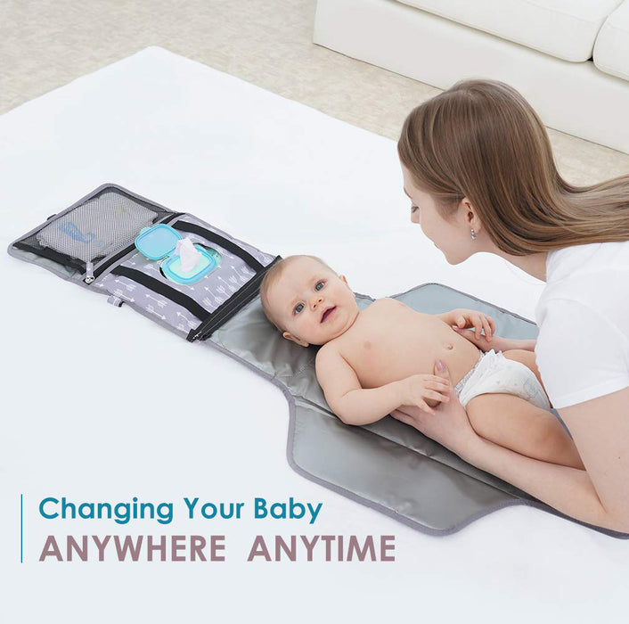 Portable Baby Diaper Changing Pad - YEAHOME Waterproof Travel Changing Table Pad for Newborn