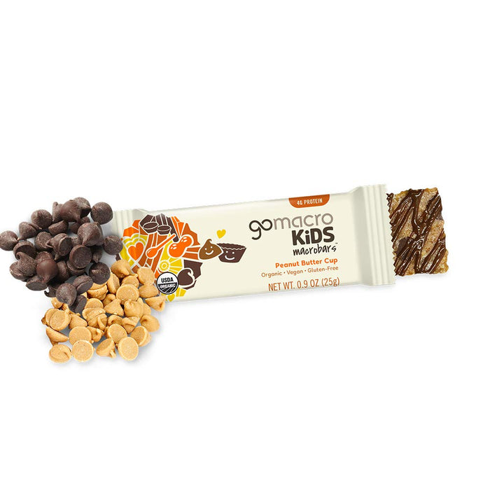 GoMacro Kids MacroBar - Peanut Butter Cup (0.90 Ounce Bars, 7 Count)