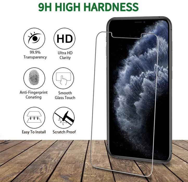 "[4 Pack] QHOHQ 2 Pack Tempered Glass Screen Protector +2 Pack Tempered Glass Camera Lens Protector for Apple iPhone 11 Pro(5.8""),[9H Hardness]"
