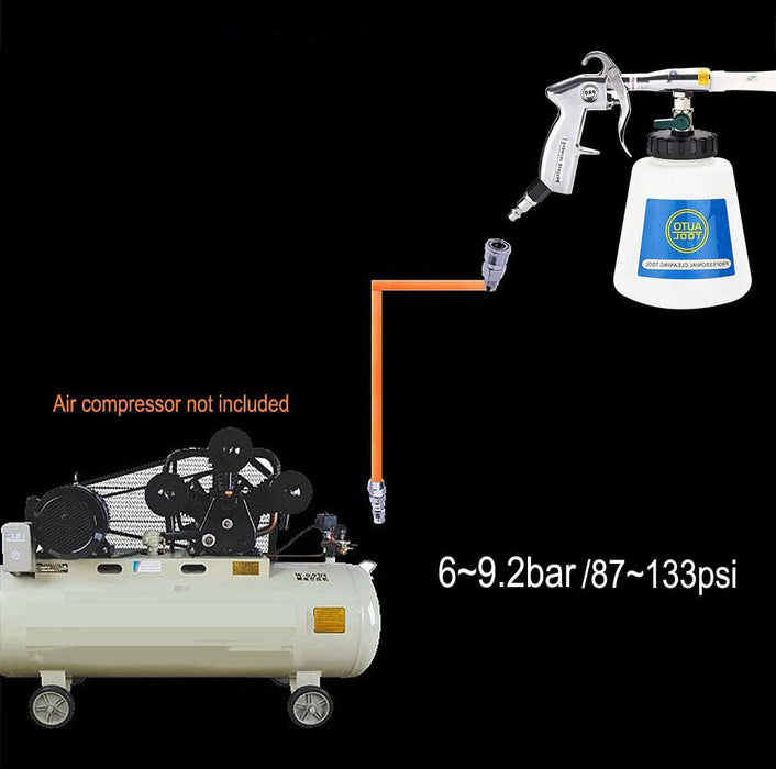 High Pressure Car Cleaning Gun Interior  Automotive Air Pulse Cleaning Equipment Nozzle Sprayer with 1 Liter Foam Bottle