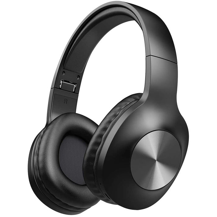 LETSCOM Bluetooth Headphones, 100 Hours Playtime Bluetooth 5.0 Headphones Over Ear , Hi-Fi Sound and Soft Earpads, Black