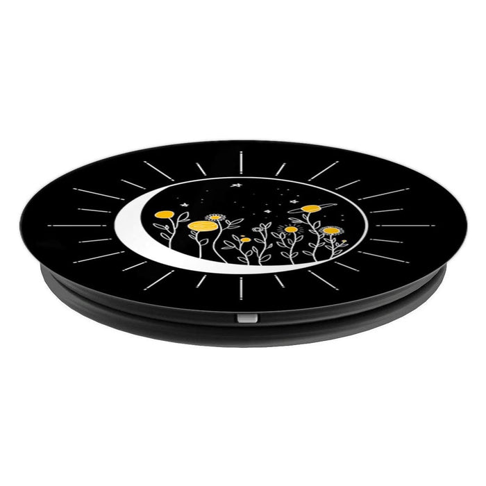 Sun Moon Solar Eclipse Flower Planets Funny Space Art Gift PopSockets Grip and Stand for Phones and Tablets