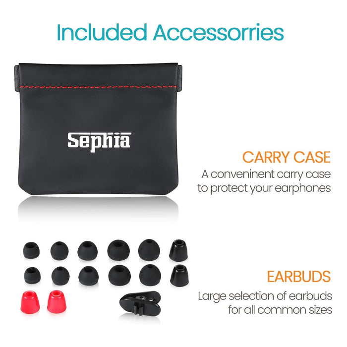 Sephia SP9090 Earphones, Portable in-Ear Headphones Compatible with iPhone, iPad, MP3 Players, Samsung Smartphones and Tablets