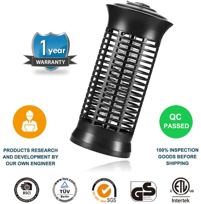 Electric Bug Zapper, Powerful Insect Killer, Mosquito Zappers, Mosquito lamp, Light-Emitting Flying Insect Trap for Indoor(Black)