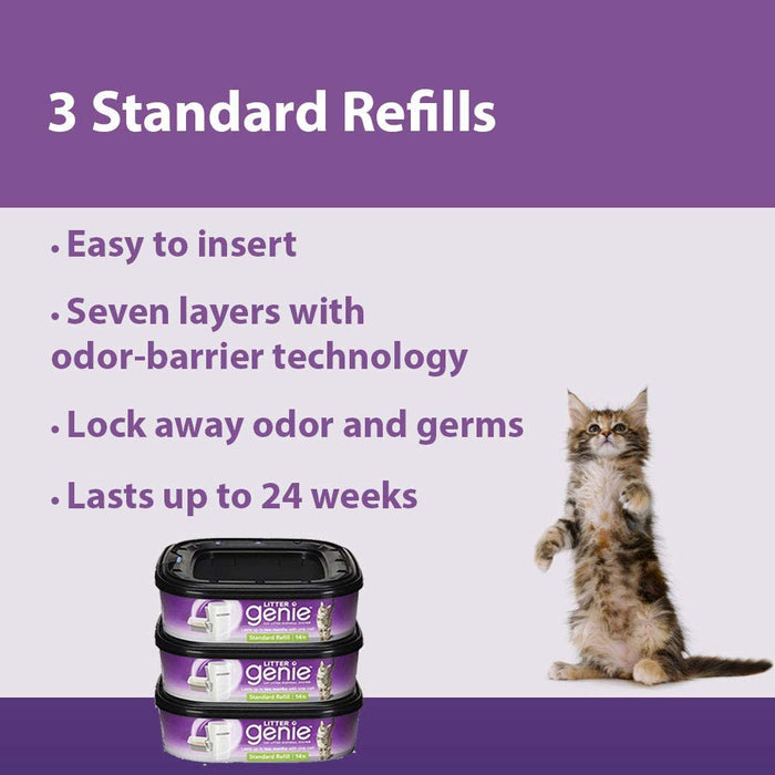 Litter Genie Standard Cat Litter Disposal System Refills