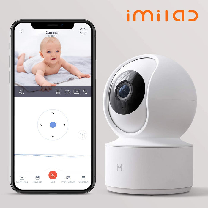 1080P Wireless Smart Home Indoor Baby IP Security Camera IMILAB,2.4Ghz WiFi Surveillance Dome Camera Pet Nanny Monitor with Two-Way Audio
