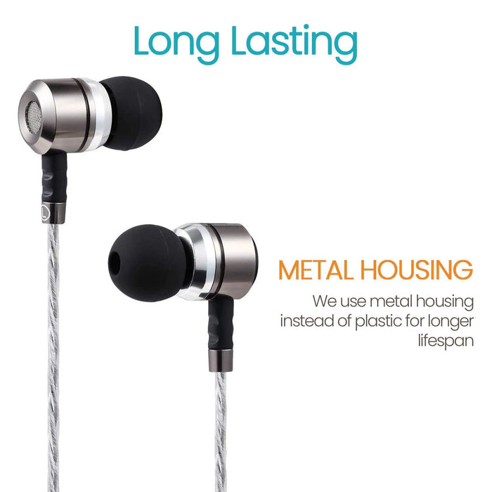 Sephia SP3060VC Earphones with Mic and Volume Control, Compatible with iPhone, iPad, Tablets, Samsung and Android Smartphones