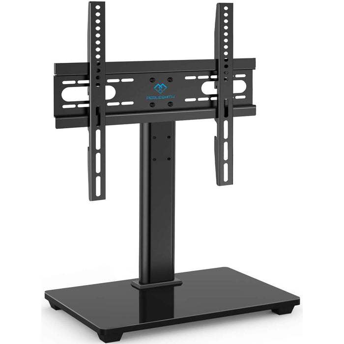 PERLESMITH Universal TV Stand - Table Top TV Stand for 37-55 inch LCD LED TVs - Height Adjustable TV Base Stand ,VESA 400x400mm