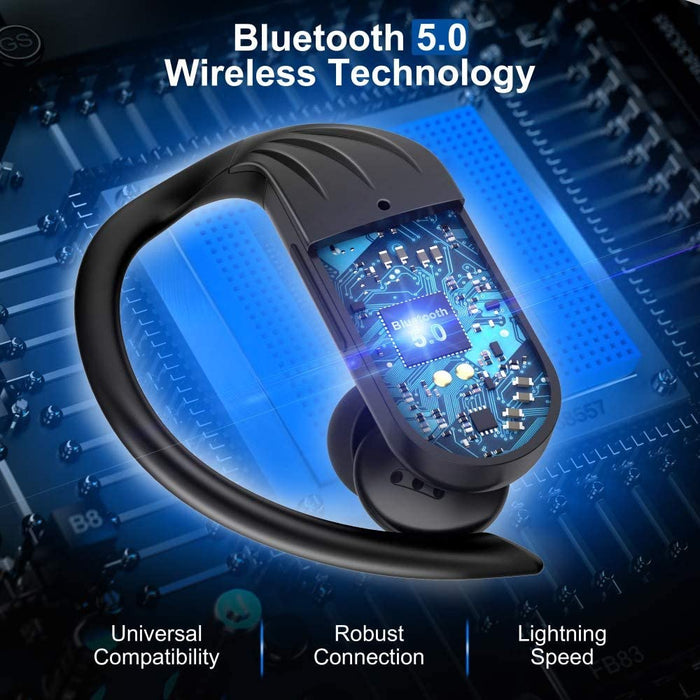 Bluetooth 5.0 Auto Pairing Deep Bass HiFi Stereo Sound  in Ear Bluetooth Earphones Binaural Call Headset with Built in Mic and Charging Case