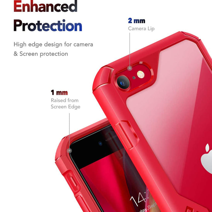 MOBOSI iPhone SE 2020 Case/iPhone 8 Case/iPhone 7 Case,  for iPhone SE2/8/7 4.7 Inch 2020 (Red)