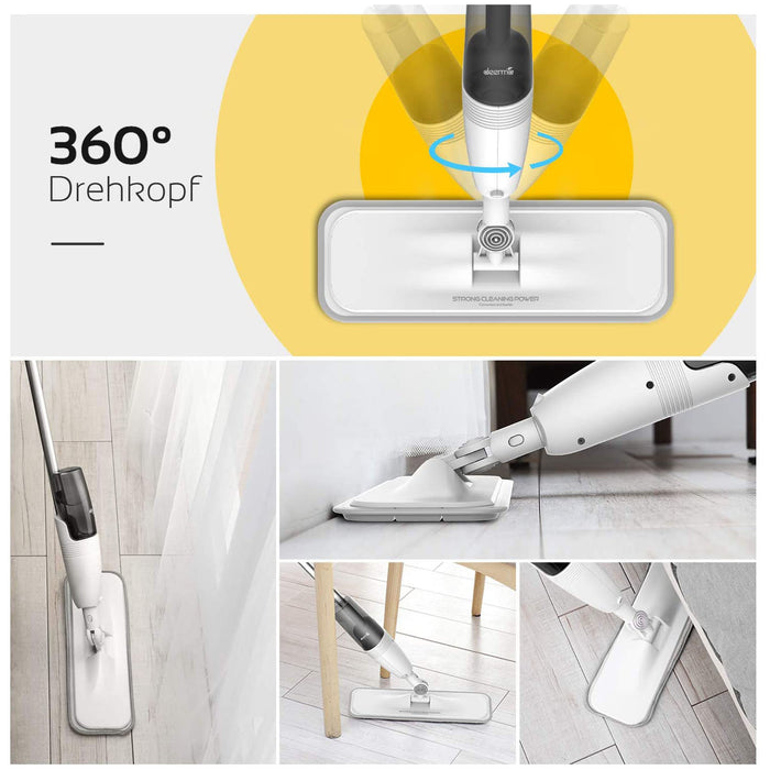 360° Rotation Flat Mop for Home Kitchen Hardwood Laminate Wood Ceramic Tile Floor, 8 FREE Mop Pad Refills