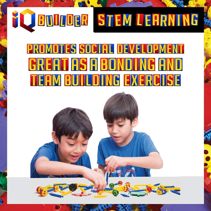 IQ BUILDER | STEM Learning Toys | Creative Construction Engineering | Fun Educational Building Blocks Toy Set