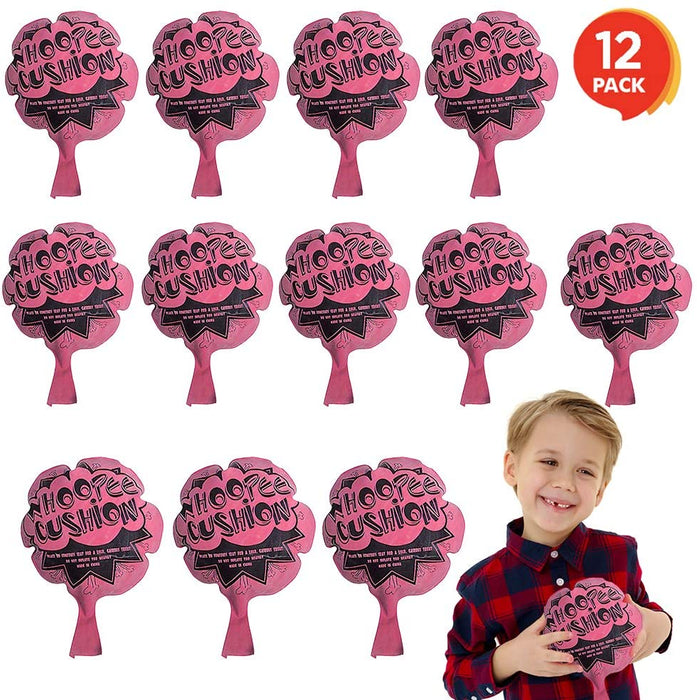 ArtCreativity 6 Inch Mini Fart Whoopee Cushions - Set of 12 - Fun Whoopee Noise Makers for Kids and Adults - 100% Non-Toxic Prank Toy