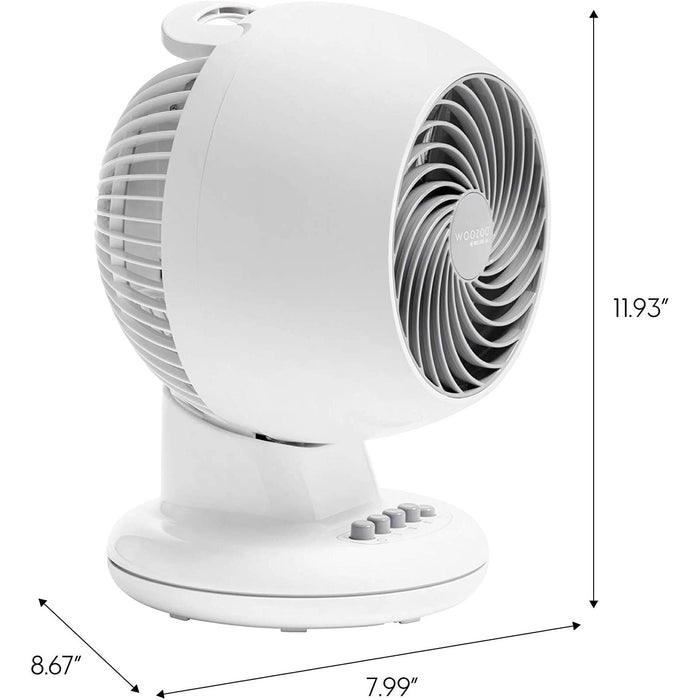 "Woozoo Compact Oscillating Circulating Fan, 5.5"", White M15U"