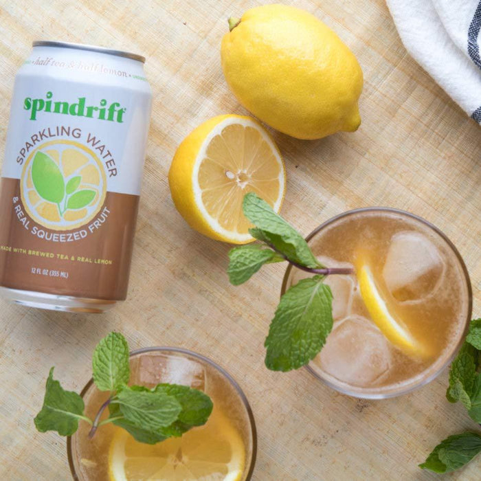 Spindrift Sparkling Water, Half Tea & Half Lemon Flavored, 12 Fl Oz Cans, Pack of 24 (Only 5 Calories per Seltzer Water Can)