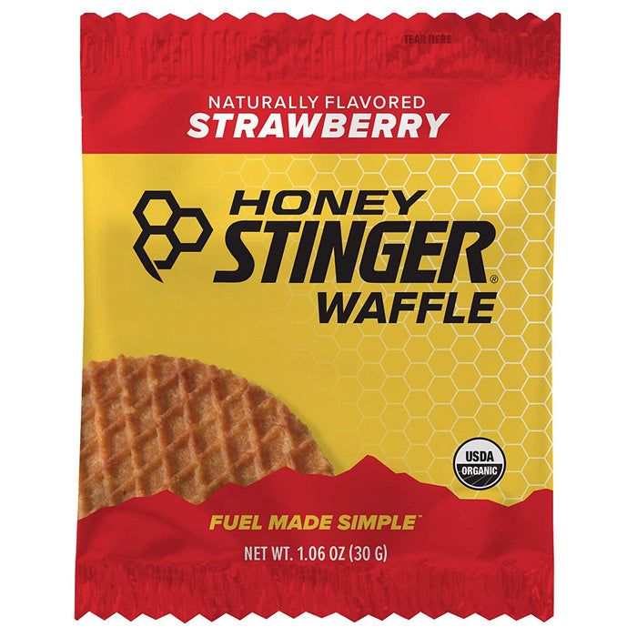 Honey Stinger Organic Waffle, Caramel, Sports Nutrition, 1.06 Ounce (16 Count)