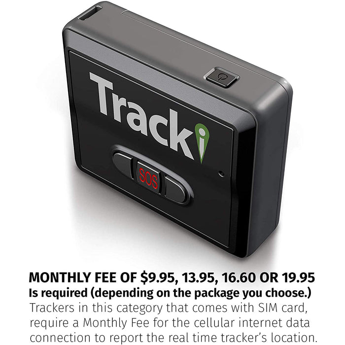 Tracki 2020 Model Mini Real time GPS Tracker. Full USA & Worldwide Coverage. For Child, elderly, pet drone motorcycle bike auto