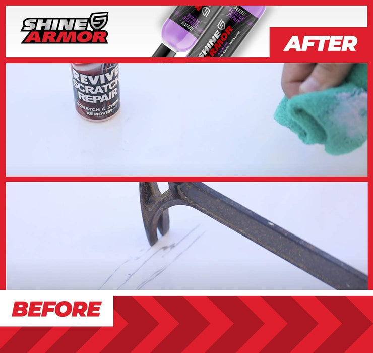 SHINE ARMOR Revive Scratch Repair Swirl Remover – Paint, Polish, Scuff, Blemish Removal