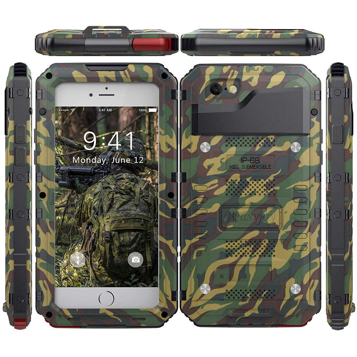 Beasyjoy iPhone 7 iPhone 8 iPhone SE Case Waterproof Heavy Duty Cover with Screen Three Layers Body Shockproof DropProof  Camo