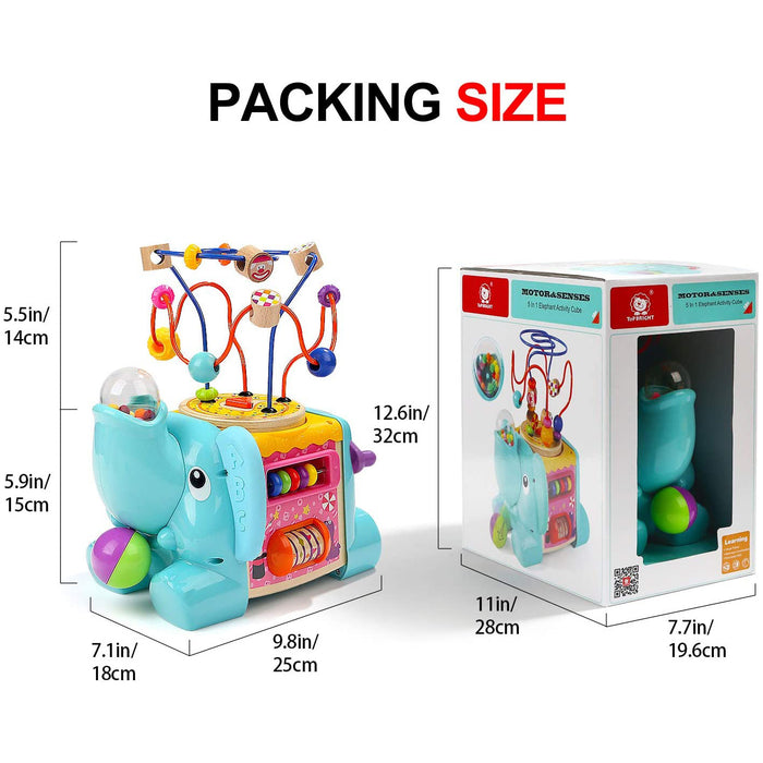 TOP BRIGHT Activity Cube Toys - Baby Toys with Bead Maze for Toddlers 1 2 Year Old Boy and Girl Gifts
