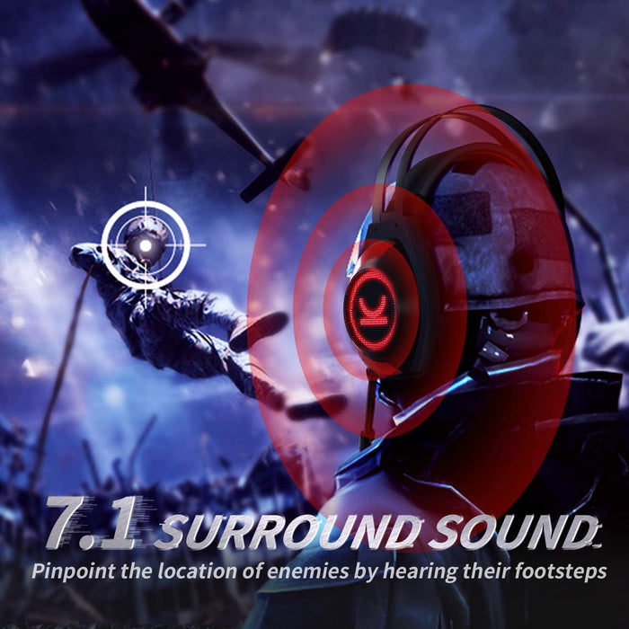 VANKYO Gaming Headset CM7000 ,Authentic 7.1 Surround Sound Stereo Headset, with Noise Canceling Mic & Memory Foam Ear Pads