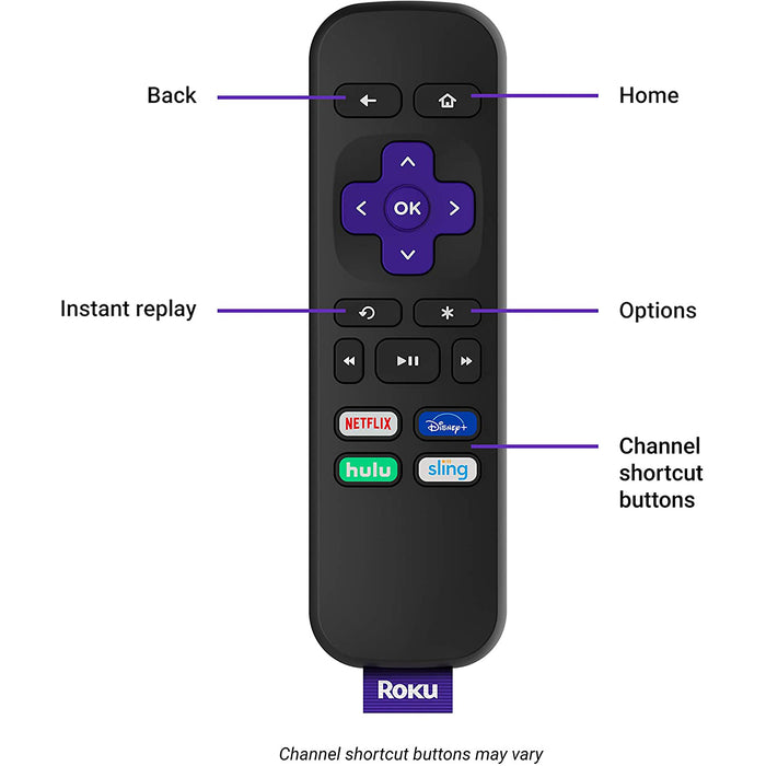 Roku Premiere | hd/4k/hdr streaming media player, remote and Premium HDMI cable