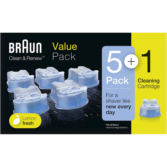 Braun CCR5+1 Clean & Renew Cleaning Cartridge, 6 Piece