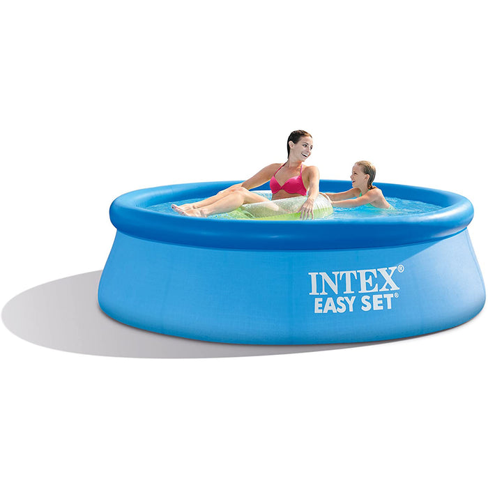 Intex Swimming Pool- Easy Setl,Small Family Frame Pool ,Swim Center for Kids、Adults,8ft.x30in(Filter pump not included)