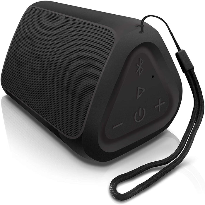 OontZ Angle Solo Bluetooth Portable Speaker, 100 Foot Wireless Range, IPX5, Bluetooth Speakers by Cambridge Sound Works (Black)