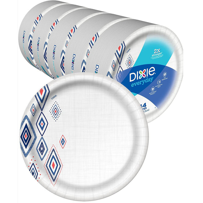 "Dixie Everyday Paper Plates,10 1/16"" Plate Disposable Plates, (5 Pack of 44 Plates), 220 Count"