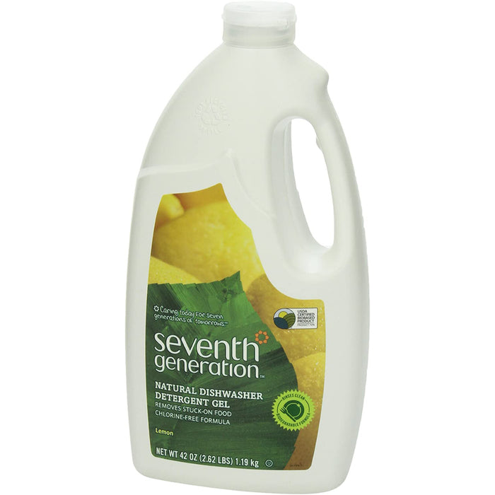 Seventh Generation Dishwasher Detergent Gel Soap, Lemon Scent, 42 Oz. Bottles, Pack of 6, (Packaging May Vary)