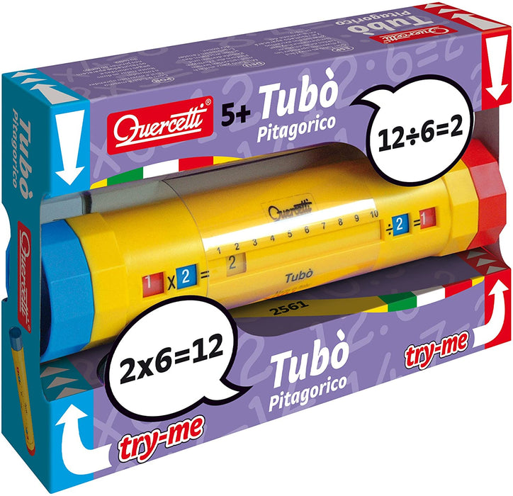Quercetti - Tubo - Educational Tool for Learning Multiplication and Division Tables, for Ages 5 Years +
