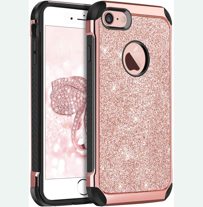 "KANGYA iPhone 8 Case, iPhone 7 Case, Protective Phone Cover for iPhone 8/iPhone 7 4.7"", Rose Gold"