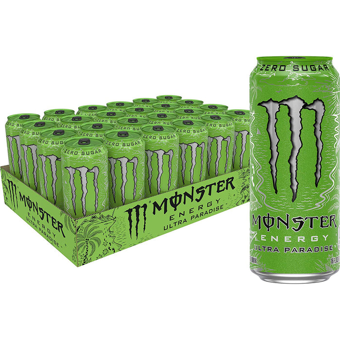 Monster Energy Ultra Black, Sugar Free Energy Drink, 16 Ounce (Pack of 24)